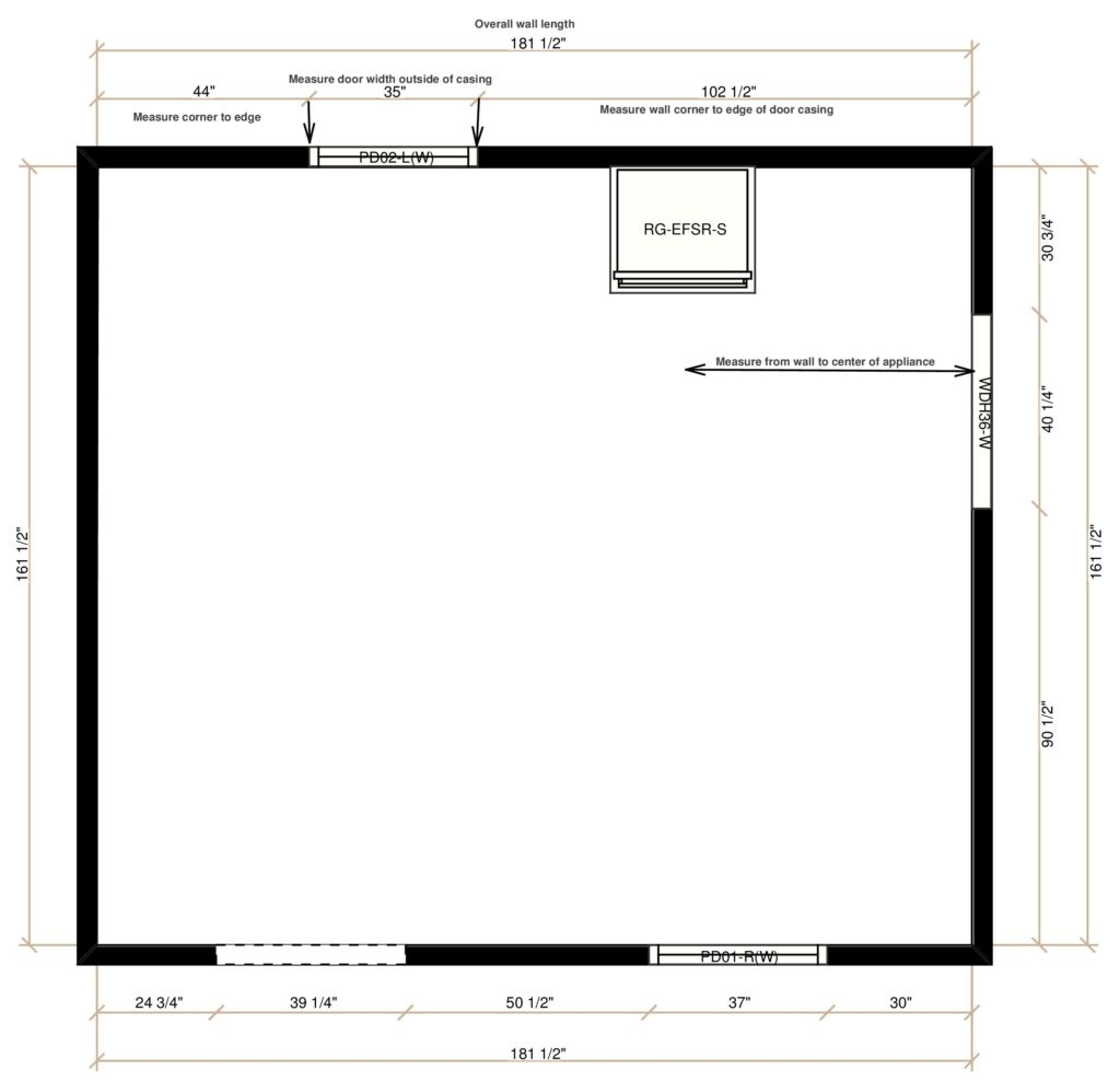 Typical Kitchen Plan view